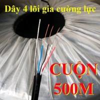 Cáp Camera 4 lõi CLIMAX 500m (2 đôi 0.5 (2x2x0.5) đồng nguyên chất + cường lực)